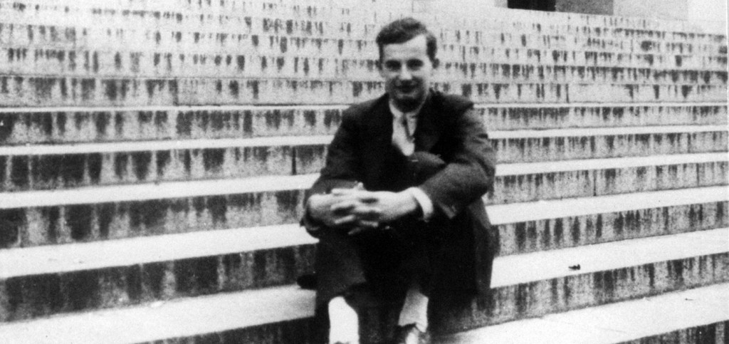 Raoul Wallenberg on the steps of Angell Hall