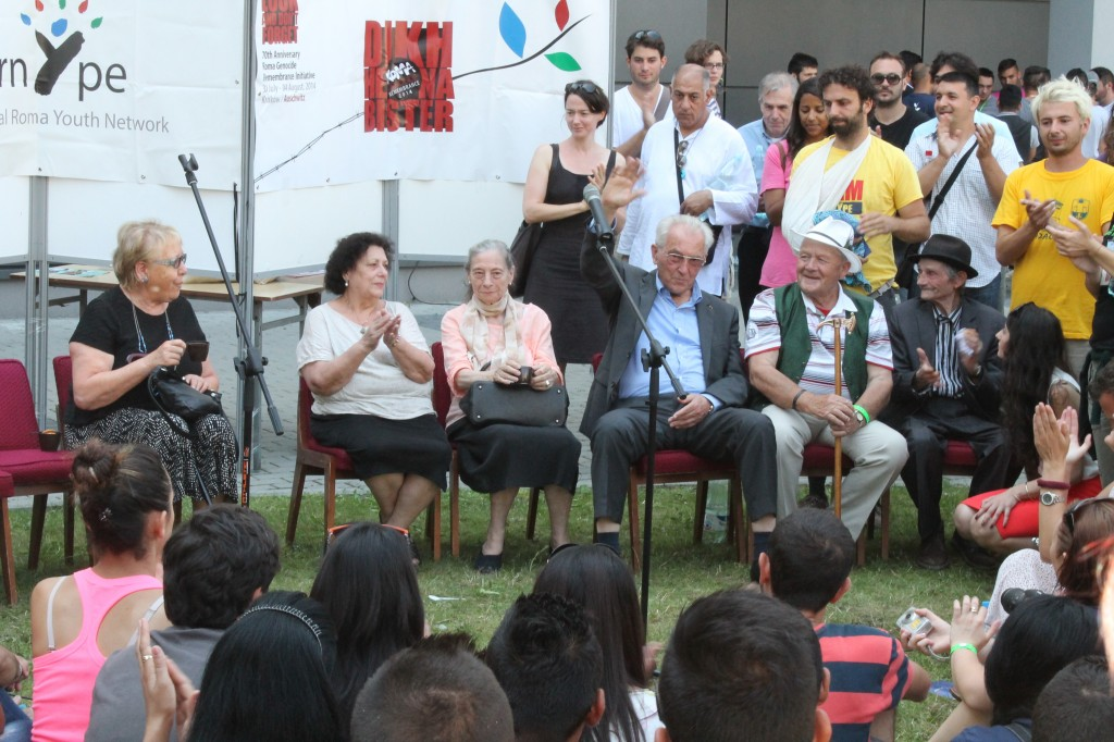 six survivors of the Roma Genocide