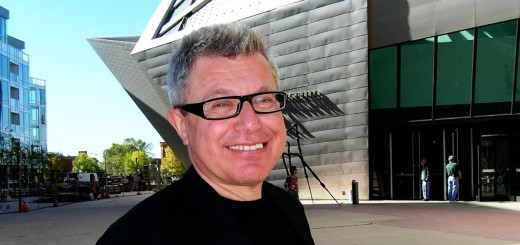 Daniel Libeskind in front of his extension to the Denver Art Museum