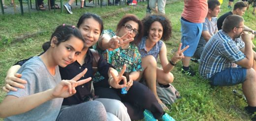 Watching the Bayreuth Summer Solstice bonfire with some newly arrived refugees