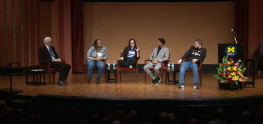 from left to right, John Godfrey, Rie'Onna Holmon, Sofie Whitney, Ke'Shon Newman, and Alex Wind