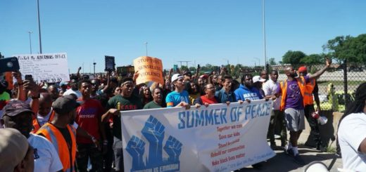 The Brave youth leaders along with Father Pfleger led the march to shut down the 79th Dan Ryan